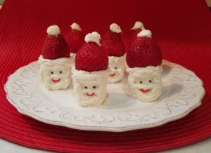 Santa Marshmallow and Strawberry Treat