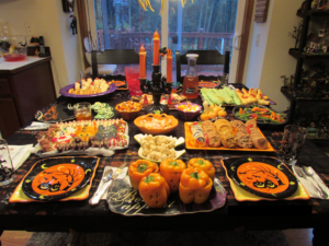Homemade Halloween Treats Spread