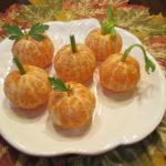 Healthy Fall Snack Orange Pumpkins