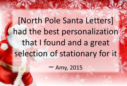 North Pole Santa Letters North Pole Letters from Santa Claus