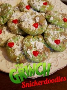 The Grinch Snickerdoodle Christmas Cookies