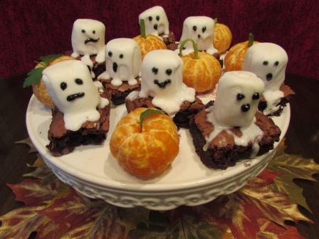Spooky Boo Ghost Brownies