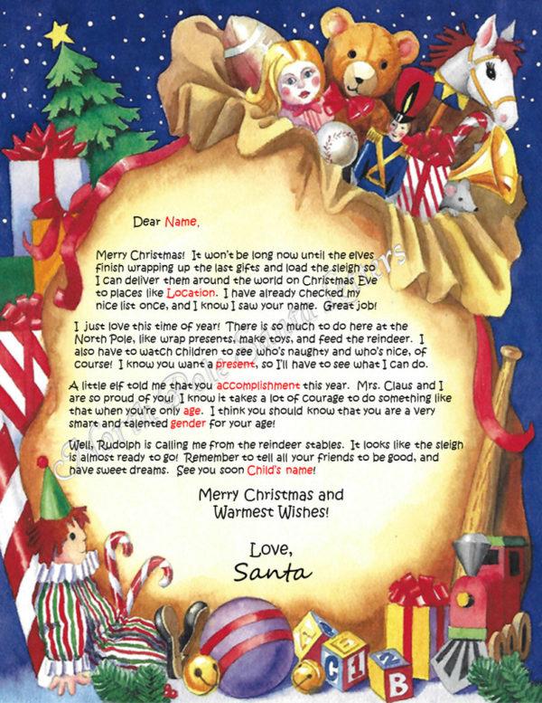 Santa's Bag Accomplishments Take Courage