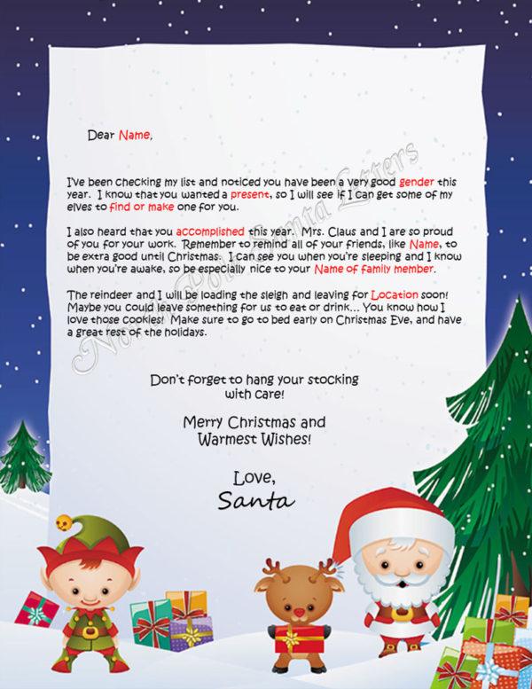 Santa's Friends Checking My List