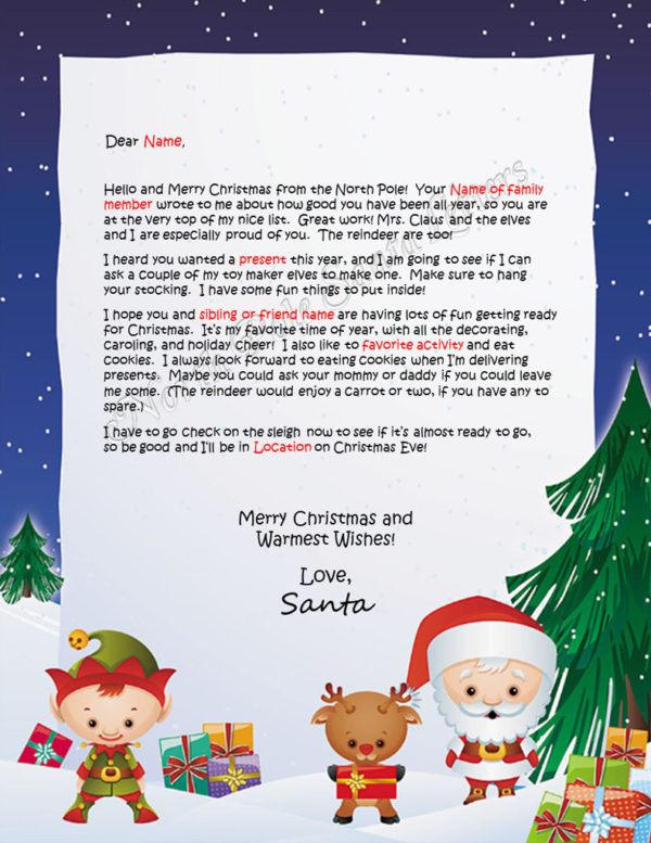 Santa's Friends Family and Activities