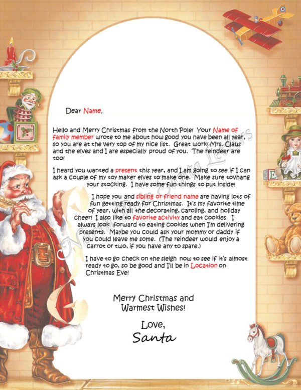 Santa'sl List Family and Activities