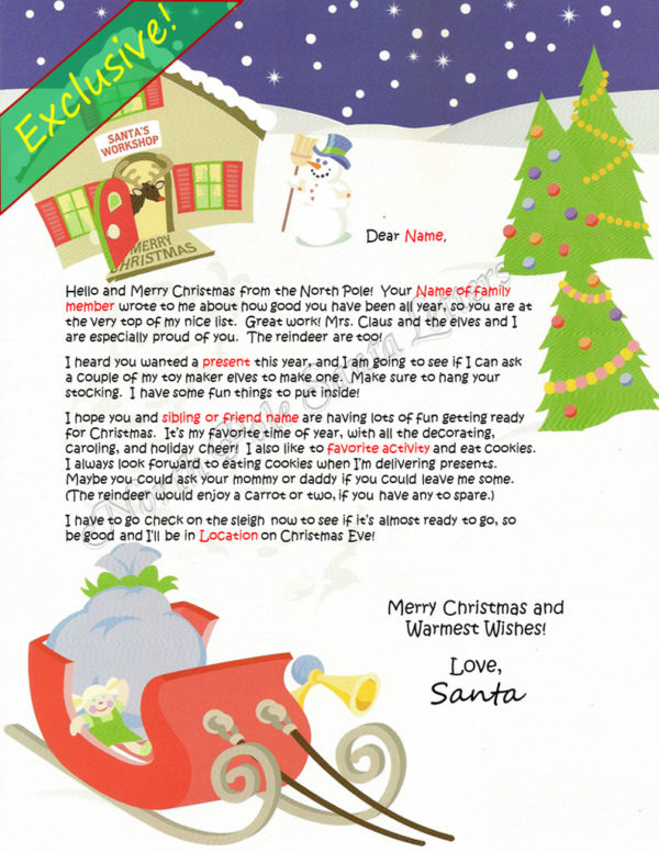 Santa's Workshop Family and Activities