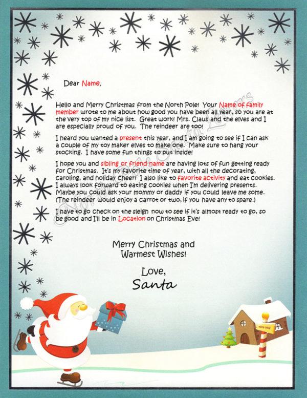 Skating Santa Family and Activities