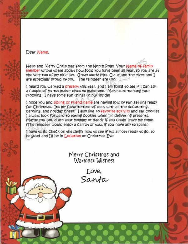 Waving Santa Family and Activities