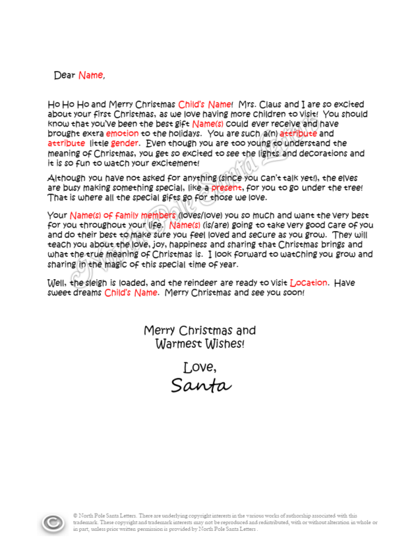 Letter from Santa The Best Gift of All