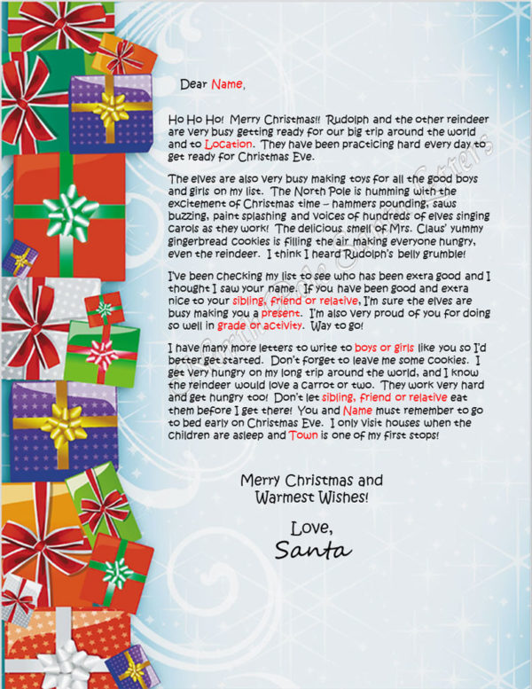 Stacked Presents the The North Pole Letter