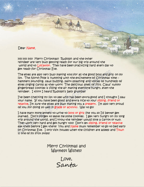 Trail to Bethlehem The North Pole Letter from Santa
