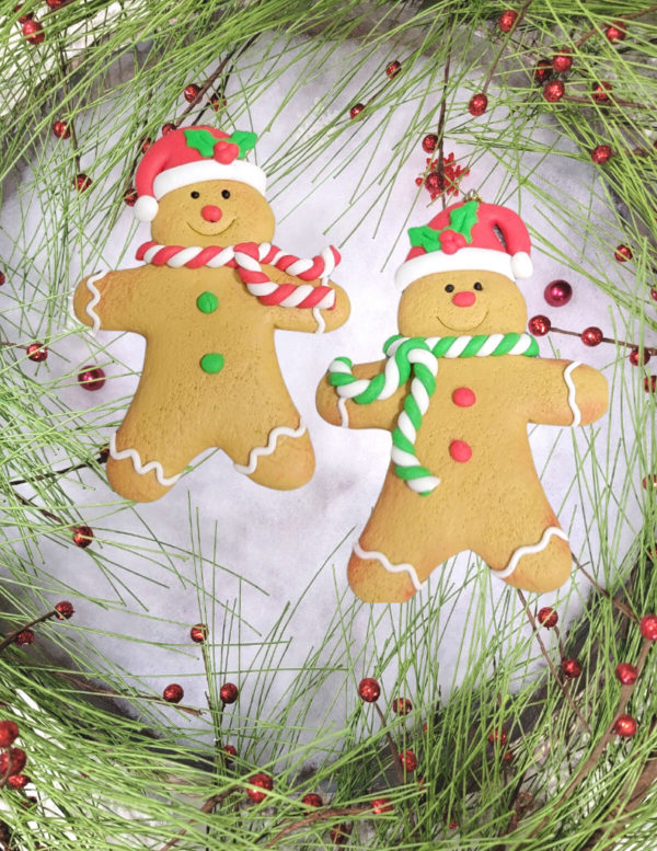 Gingerbread people ornaments