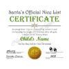 Santa's Official Nice List Certificate